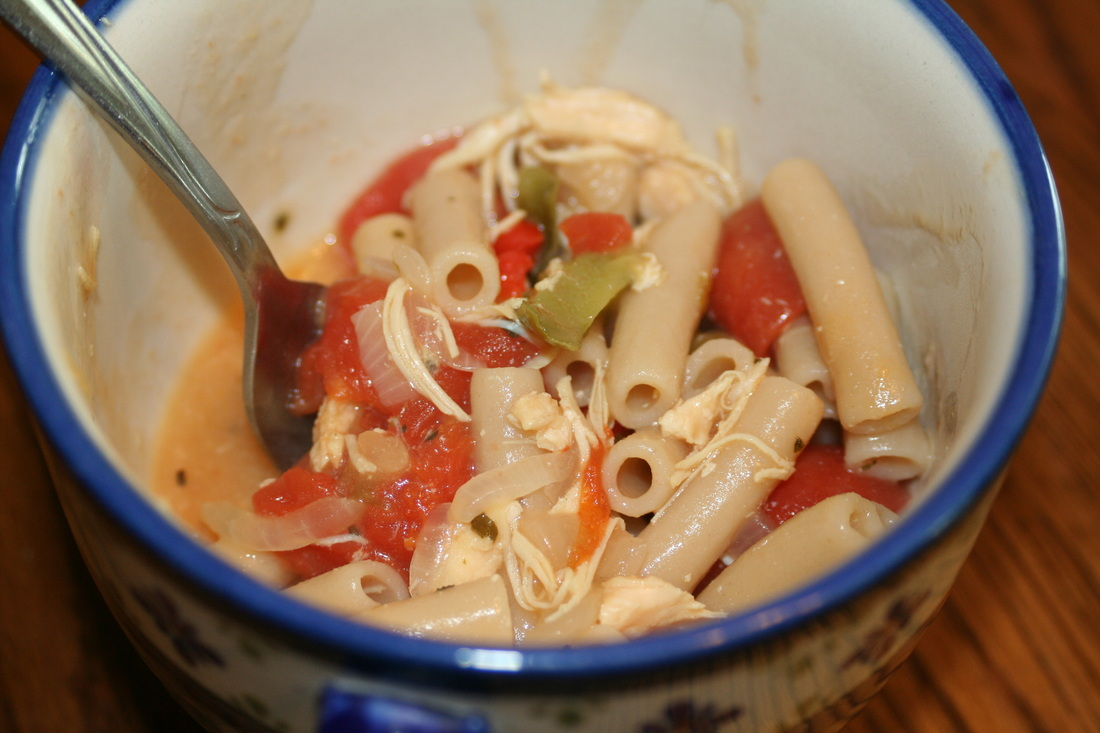 Veggie Marinated Noodles with Chicken-Gluten, Dairy, Egg Free