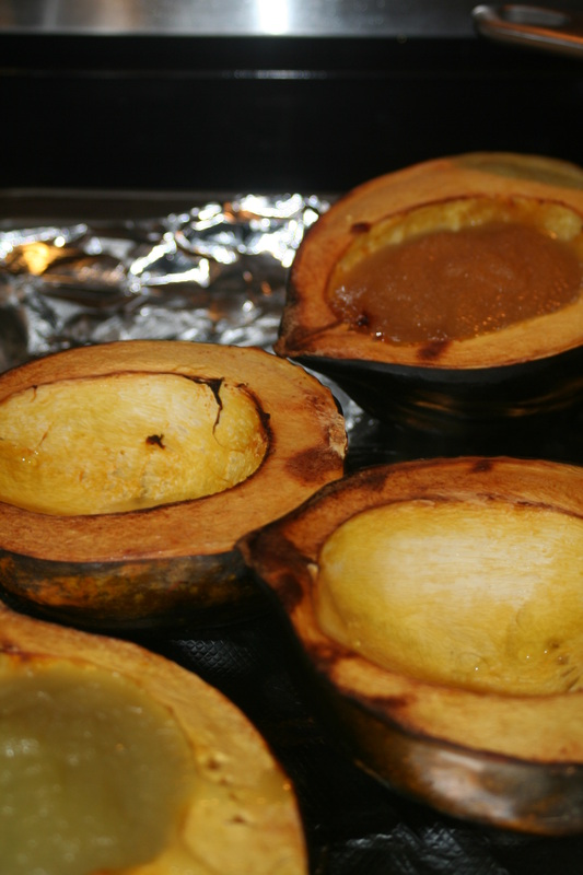 Baked Acorn Squash with Applesauce- Gluten, Dairy, Egg Free Recipe