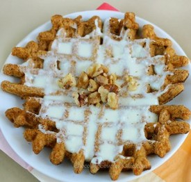Carrot Cake Waffles- Gluten, Dairy, Egg Free